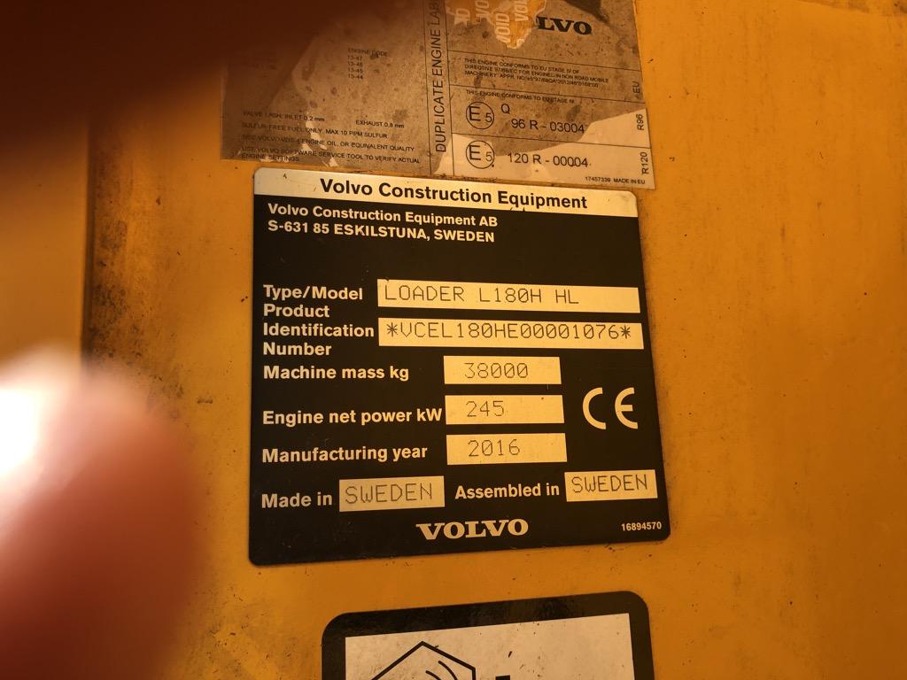 VOLVO L180H-HL    CHL001