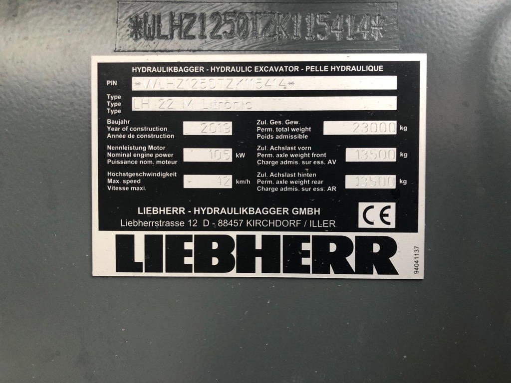 PELLE MANUTENTION LIEBHERR LH22M  PM045 LIEBHERR LH22M