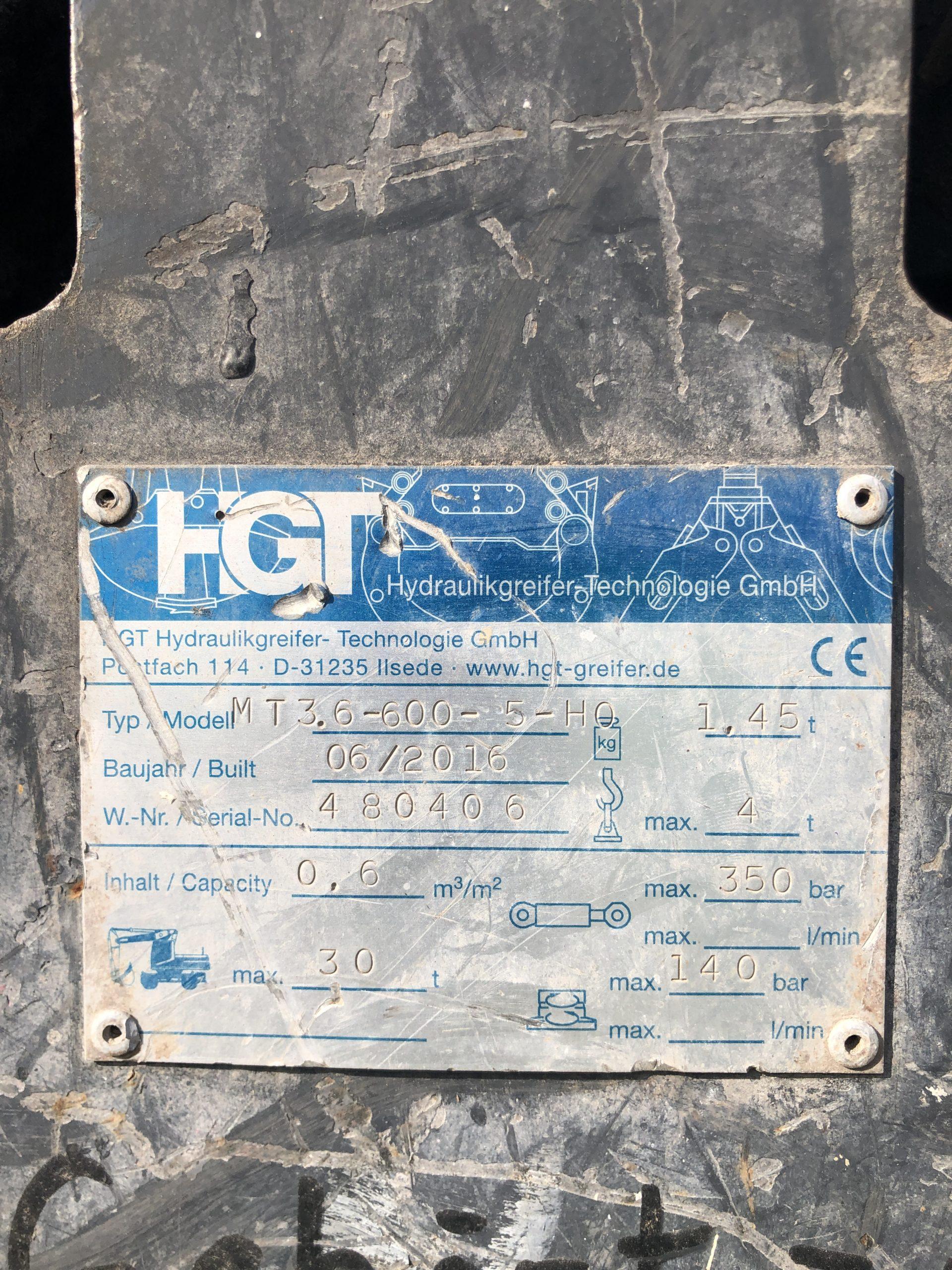 HGT GRAPPIN 5 DENTS / 600 LITRES  GRAP002